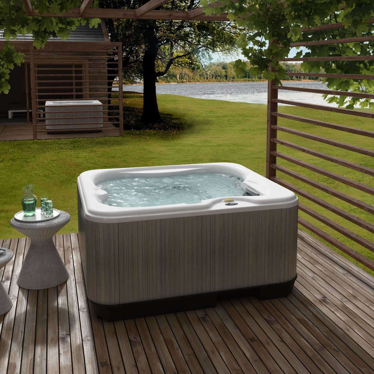 embrace spa kinnaird hot lodges woodland person tub scotland