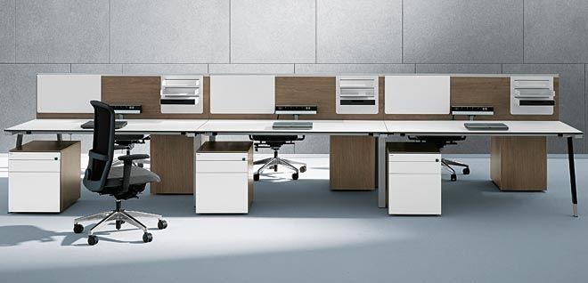 Workstation desk / laminate / contemporary / commercial - T ...