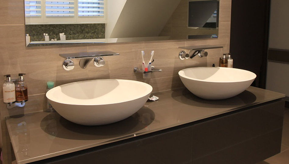 Countertop washbasin / oval / composite / stone - LARGE OVAL STONE ...