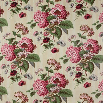 Upholstery Fabric Floral Pattern Cotton Hydrangea Colefax
