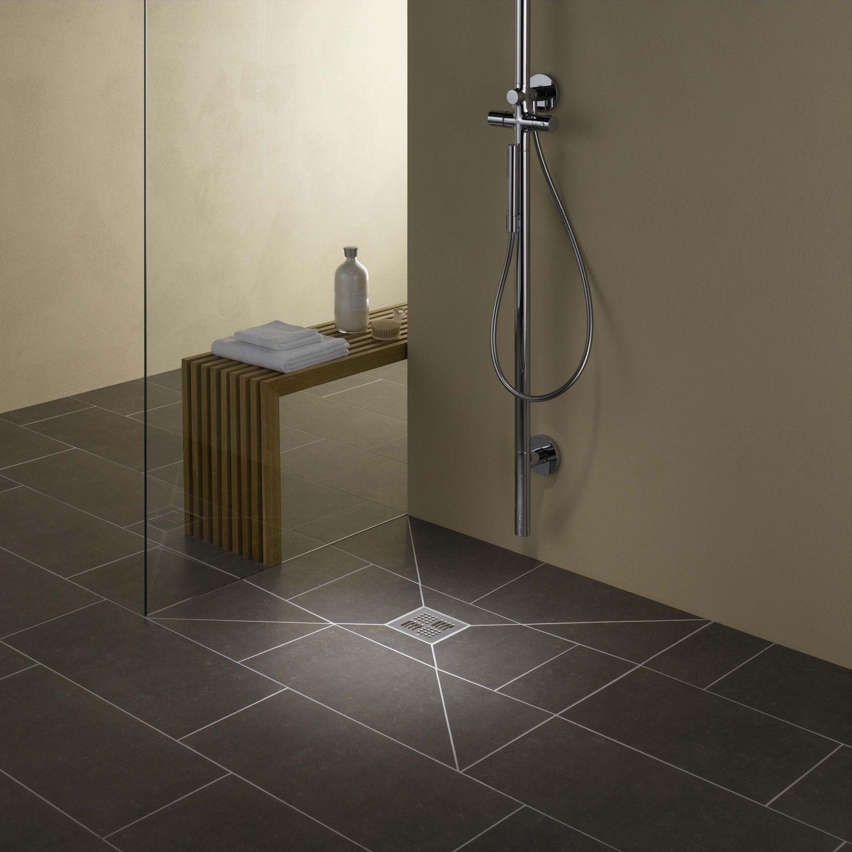 Square shower base / ceramic / extra-flat / flush - PORESTA® BF 95 ...