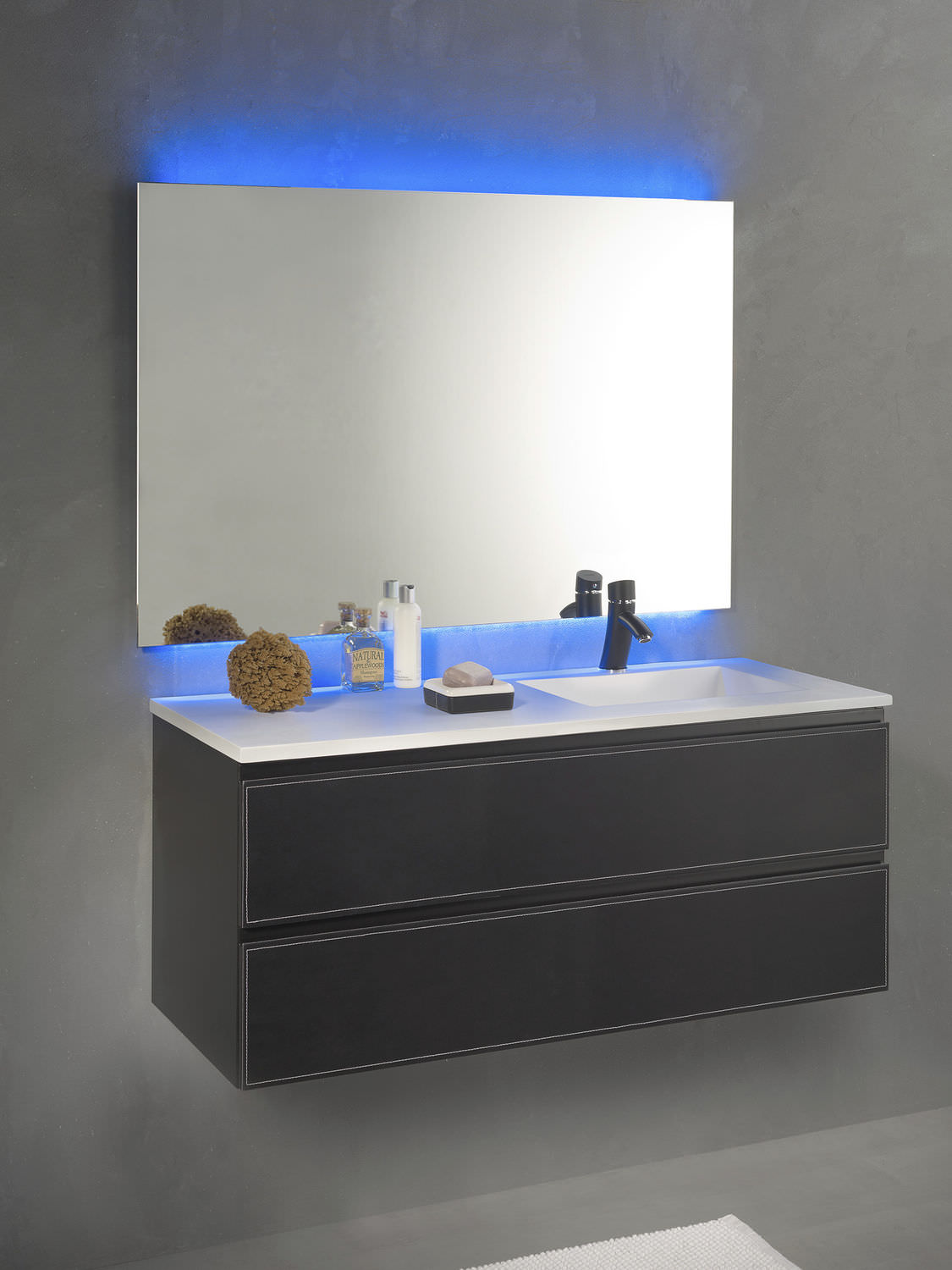 Salle De Bain Kramer ~ wall hung washbasin cabinet wooden contemporary with mirror