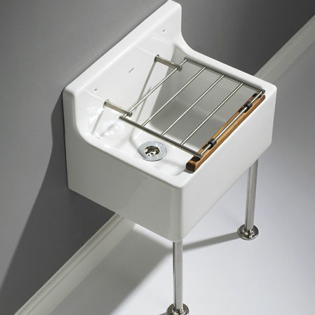 Nice Wall Mounted Laundry Sink / Ceramic   CLEANL18SET