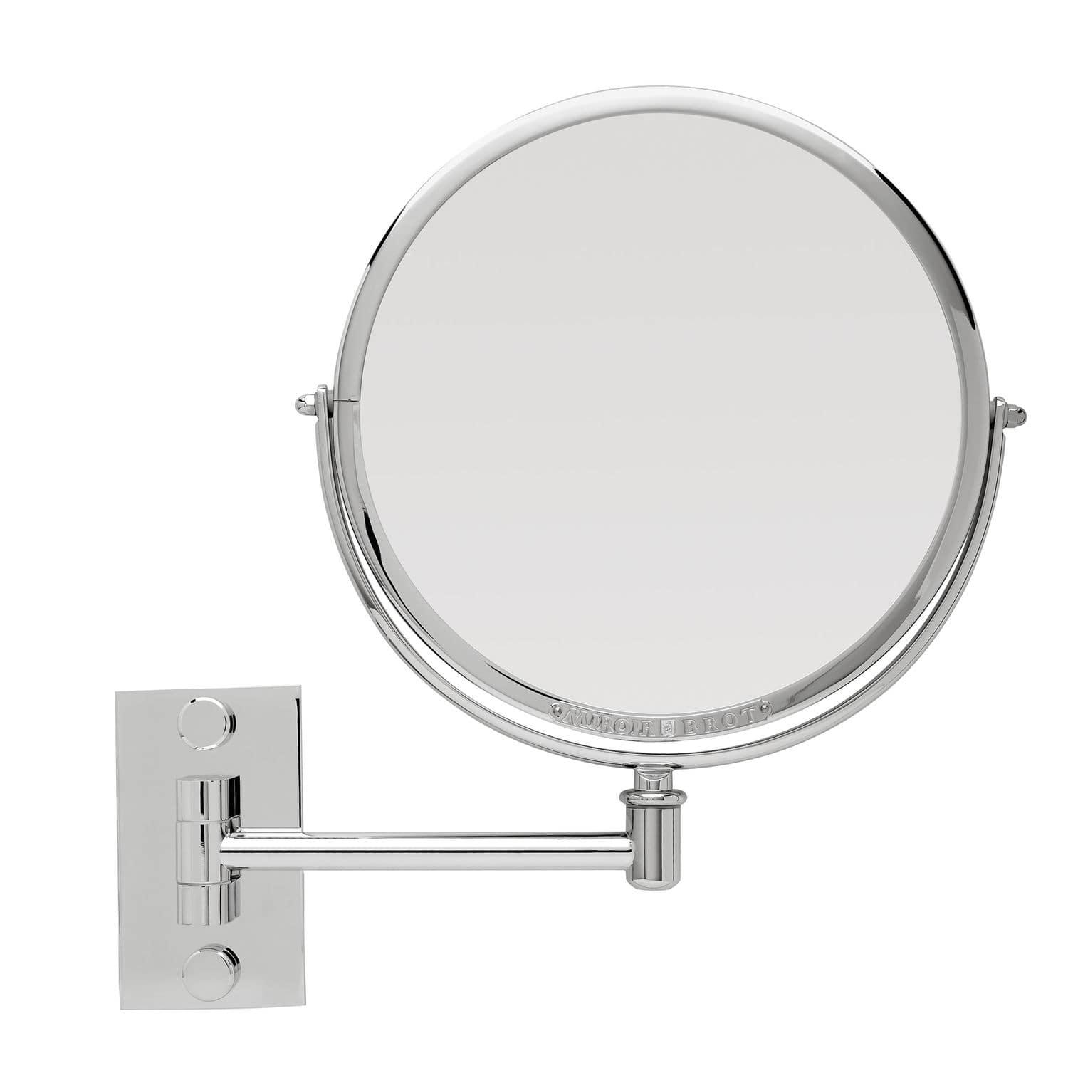 Wall-mounted bathroom mirror / magnifying / contemporary / round ...