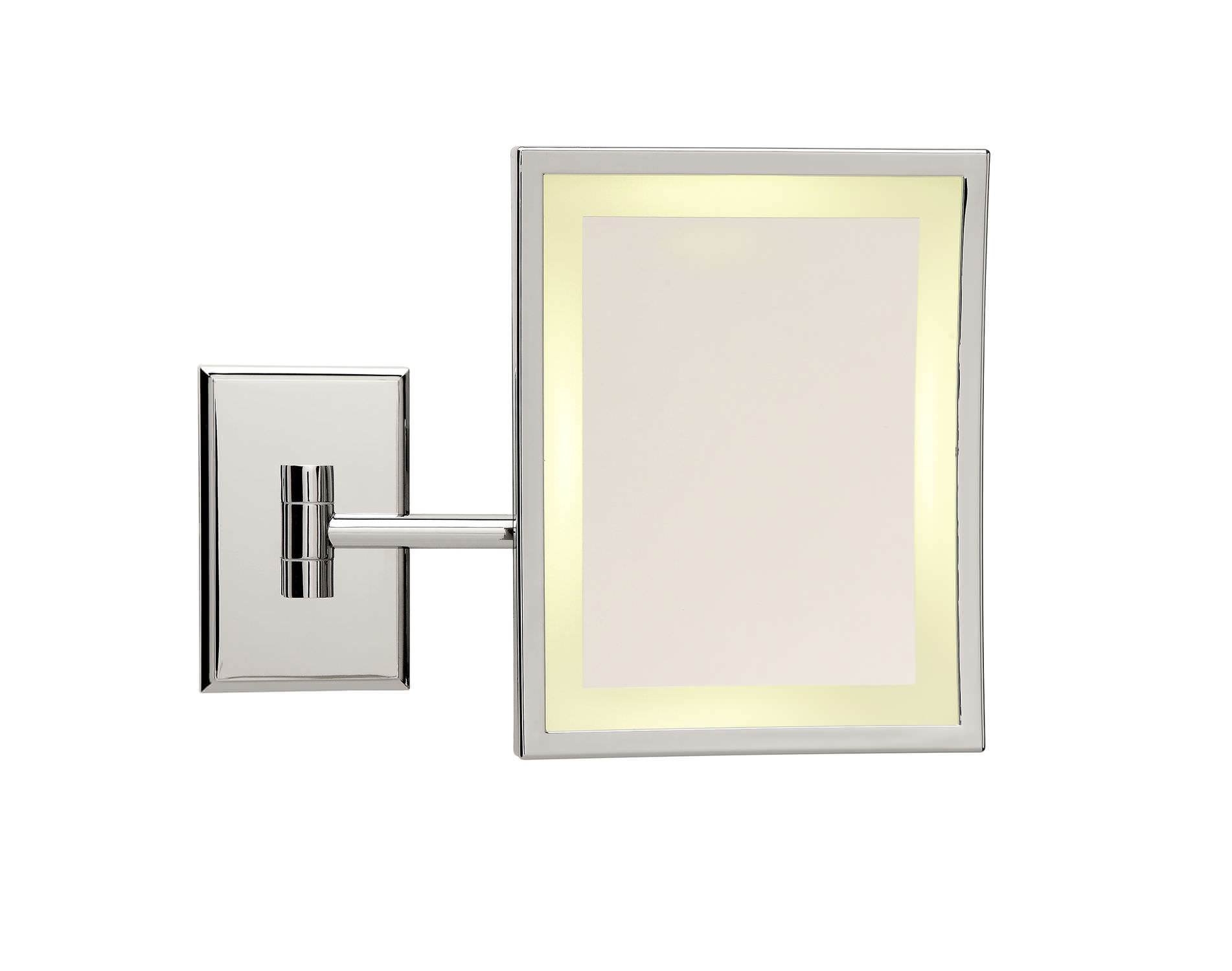 Wall mounted magnifying mirrors for bathrooms - Wall Mounted Mirror Contemporary Rectangular Magnifying Square Lm Bs