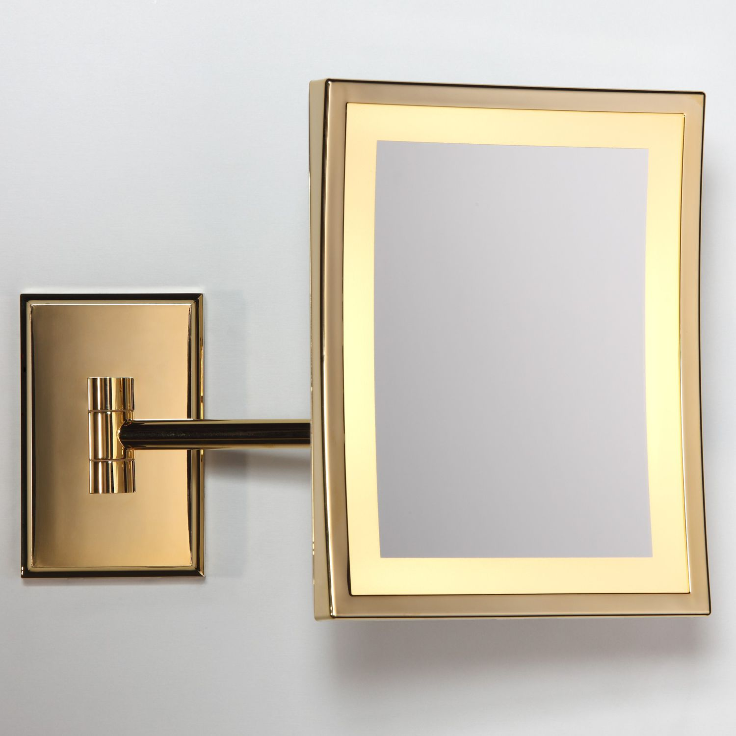 Wall-mounted bathroom mirror / illuminated / magnifying ...