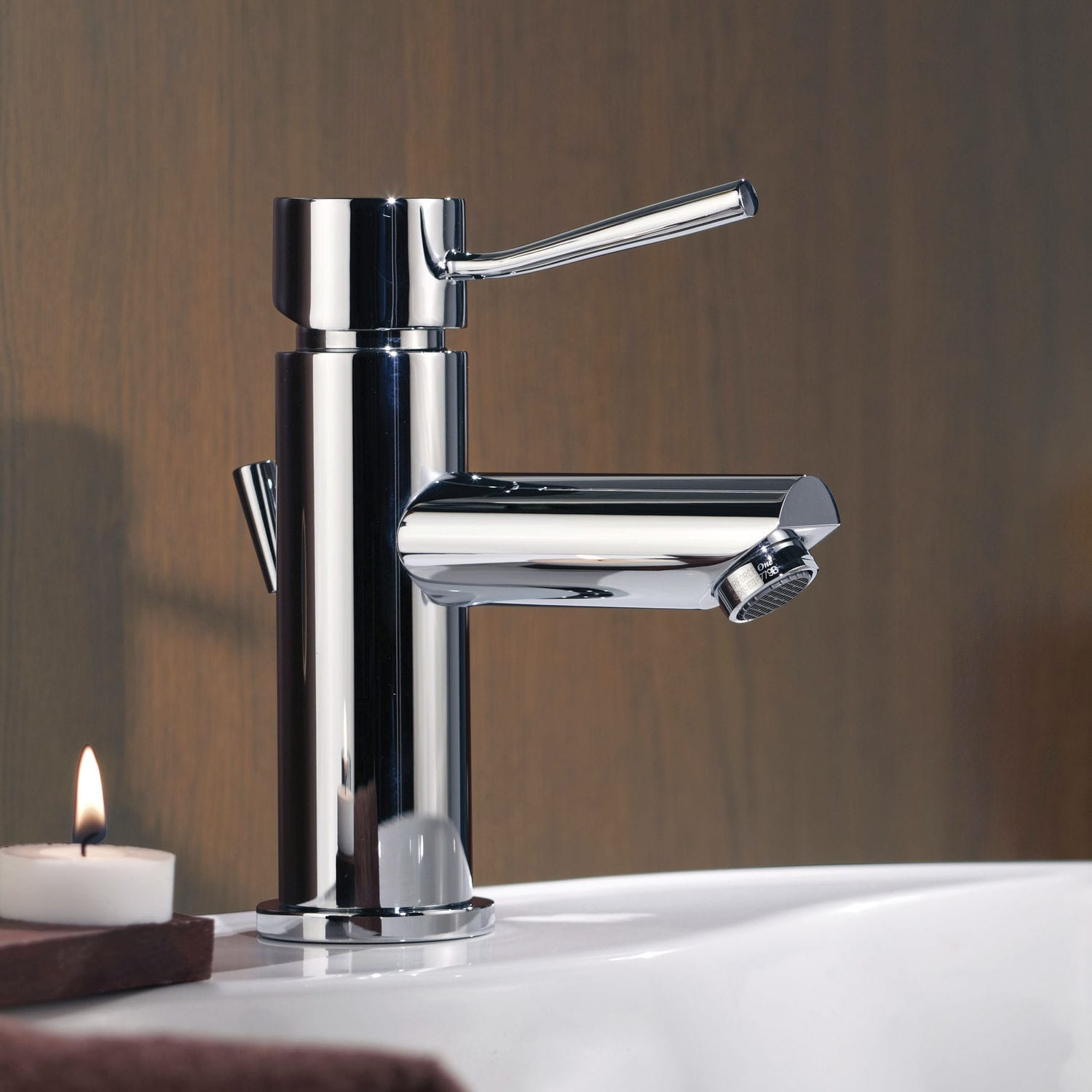 Washbasin mixer tap / chromed metal / chrome-plated brass / bathroom ...