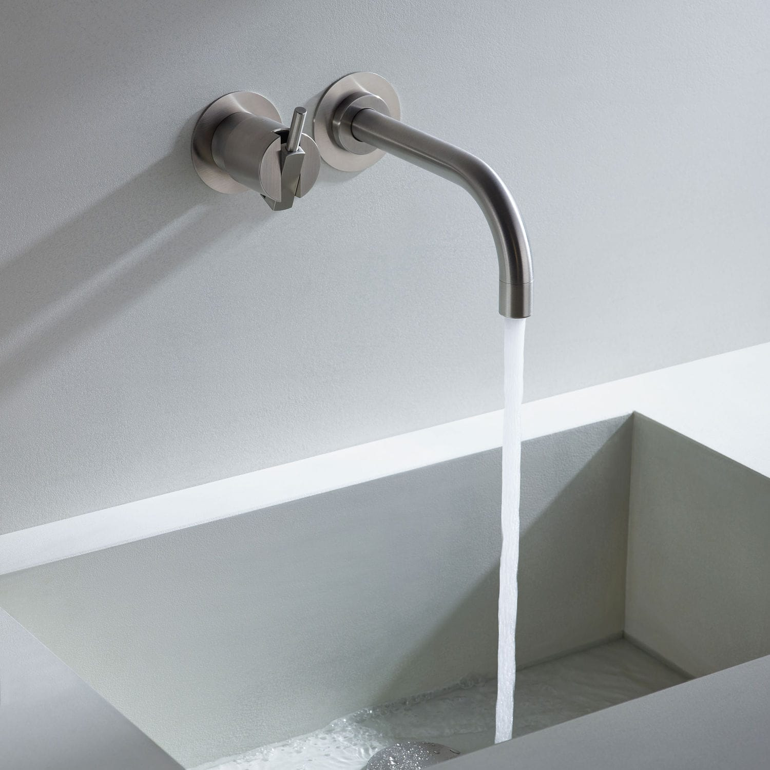 Built-in mixer tap / metal / kitchen / 2-hole - 111 - VOLA