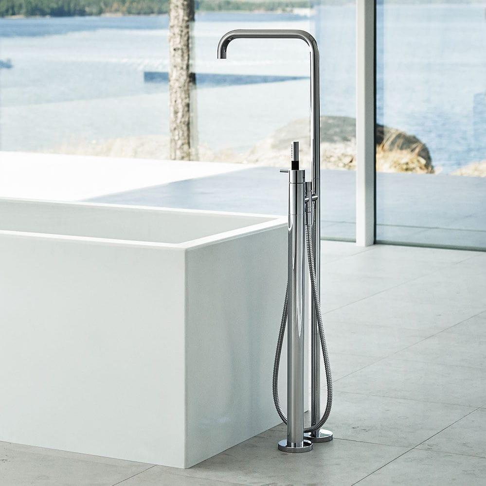 Bathtub mixer tap / floor-mounted / metal / bathroom - FS1 - VOLA