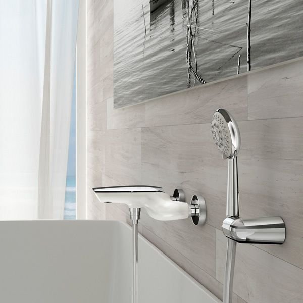 Shower Mixer Tap / For Bathtubs / Wall Mounted / Chromed Metal   ARIA:  AI850101 By Massimiliano Settimelli