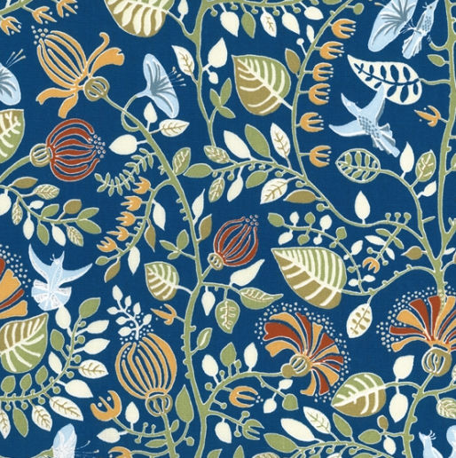 Upholstery Fabric Floral Pattern Cotton Organic Langtans