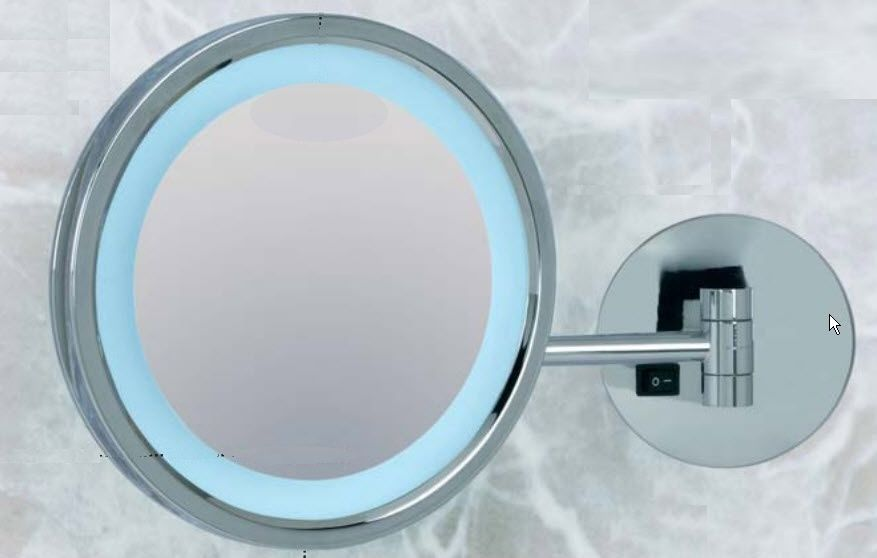 Wall mounted bathroom mirror magnifying led illuminated wall mounted bathroom mirror magnifying led illuminated contemporary kristal vision 800 oor 400 mozeypictures Image collections