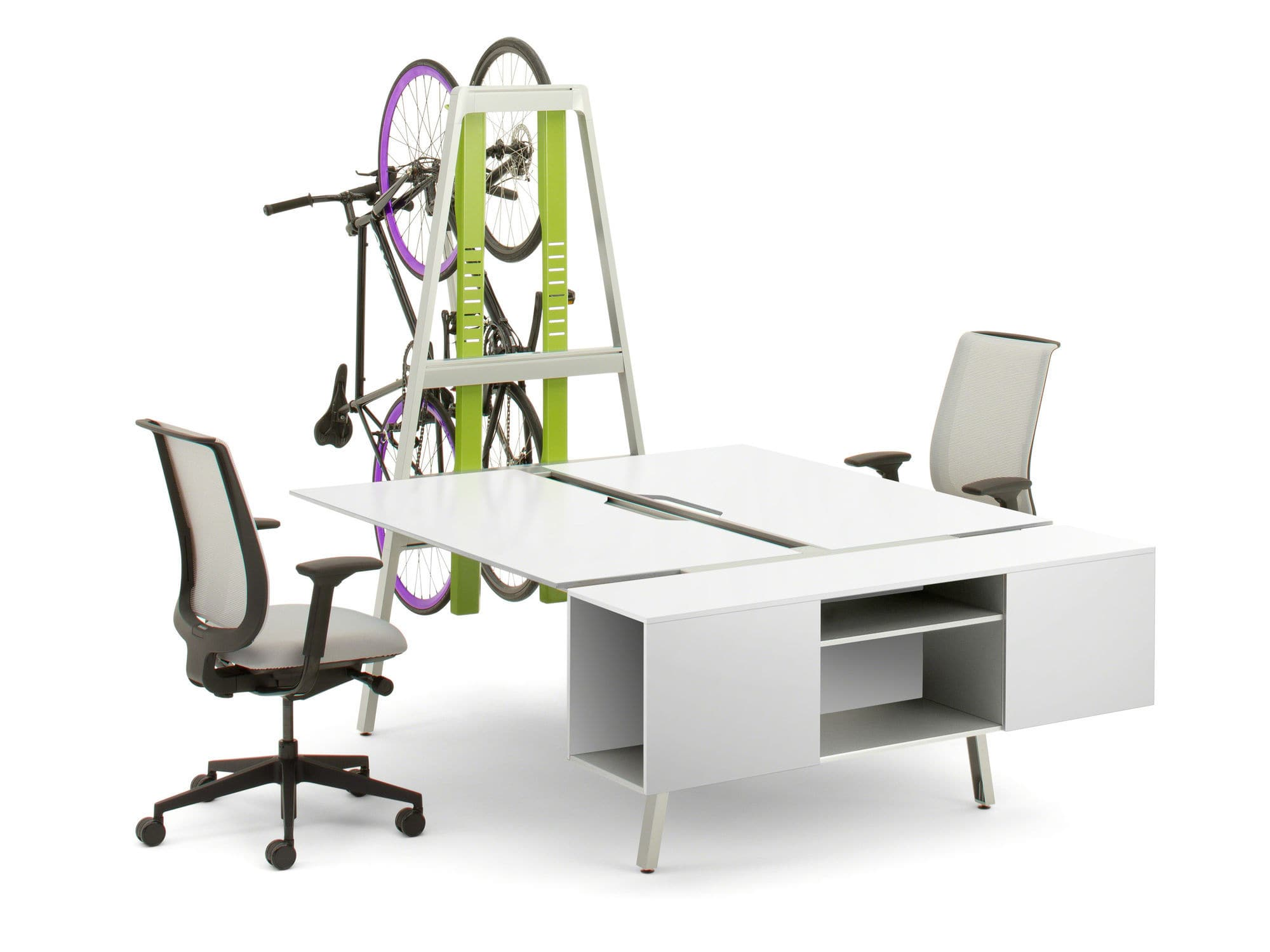 ... Workstation Desk / Wooden / Contemporary / Commercial BIVI FOR TWO  Turnstone