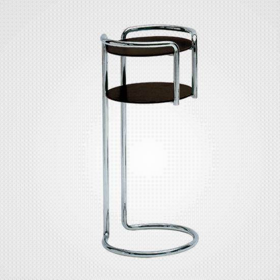 Contemporary Side Table Steel Laminate Plastic Chichibio By G L Montalcini P Pogatschnig