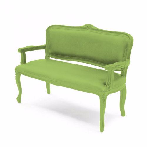 New Baroque design upholstered bench abrasionresistant rubber