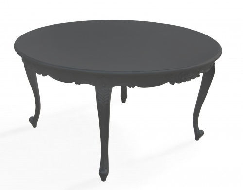 New Baroque design table / elastomer / round / outdoor - PLASTIC ...