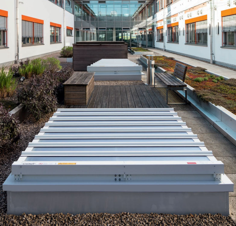 Flat Roof Skylight / Smoke Control / With Skylight Frame   AIRLITE