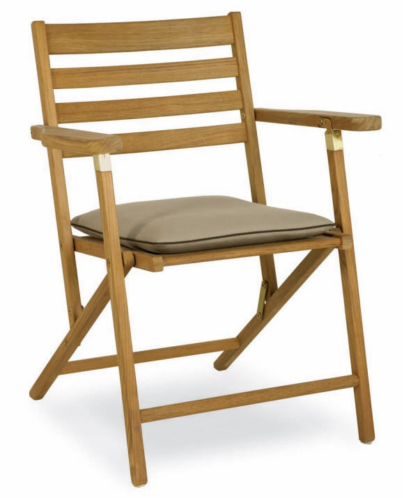 Traditional Chair Wooden Folding With Armrests Ship To