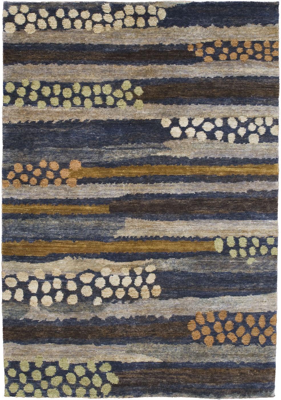 Contemporary Rug Patterned Jute Rectangular Pebbledash By Kit Kemp
