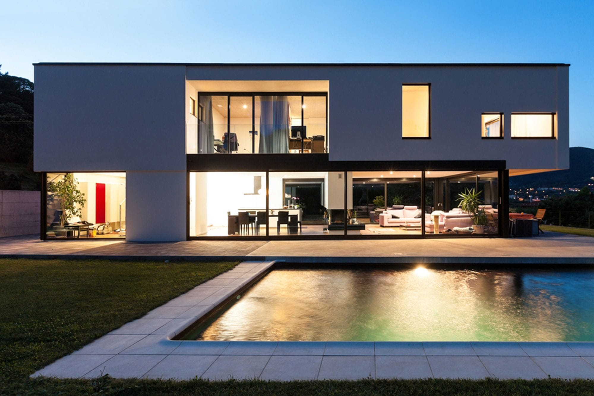 Sliding patio door / composite / double-glazed / thermally ...