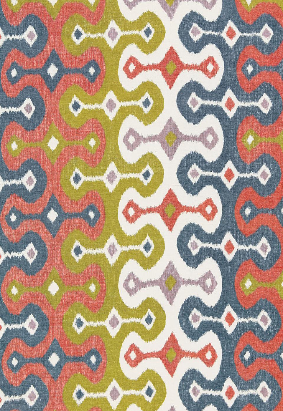 upholstery fabric patterned linen hand printed darya ikat