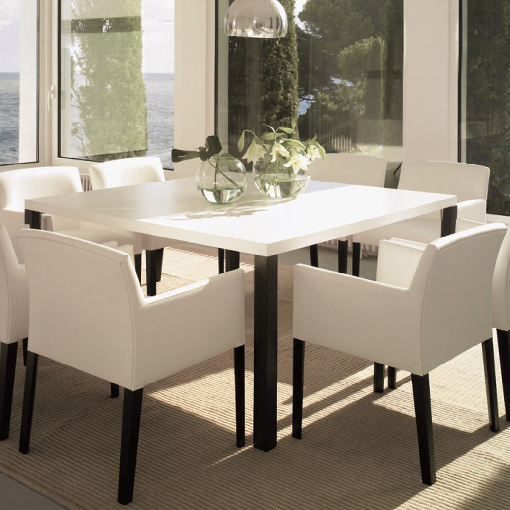 Contemporary Conference Table / Beech / Rectangular / Round   SISTEMA SP