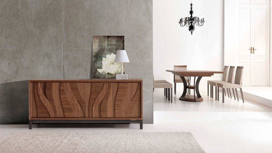 Elegant Contemporary Sideboard / Oak / Walnut ARTISAN By Planum Furniture MOBIL  FRESNO ...