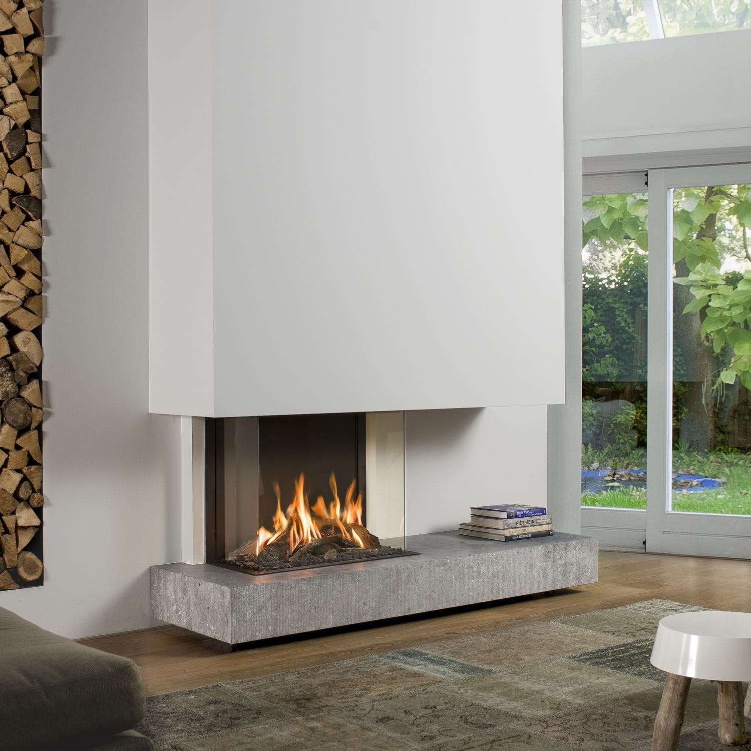 feuer prod visio sided st wood fireplace ag attika insert burning product