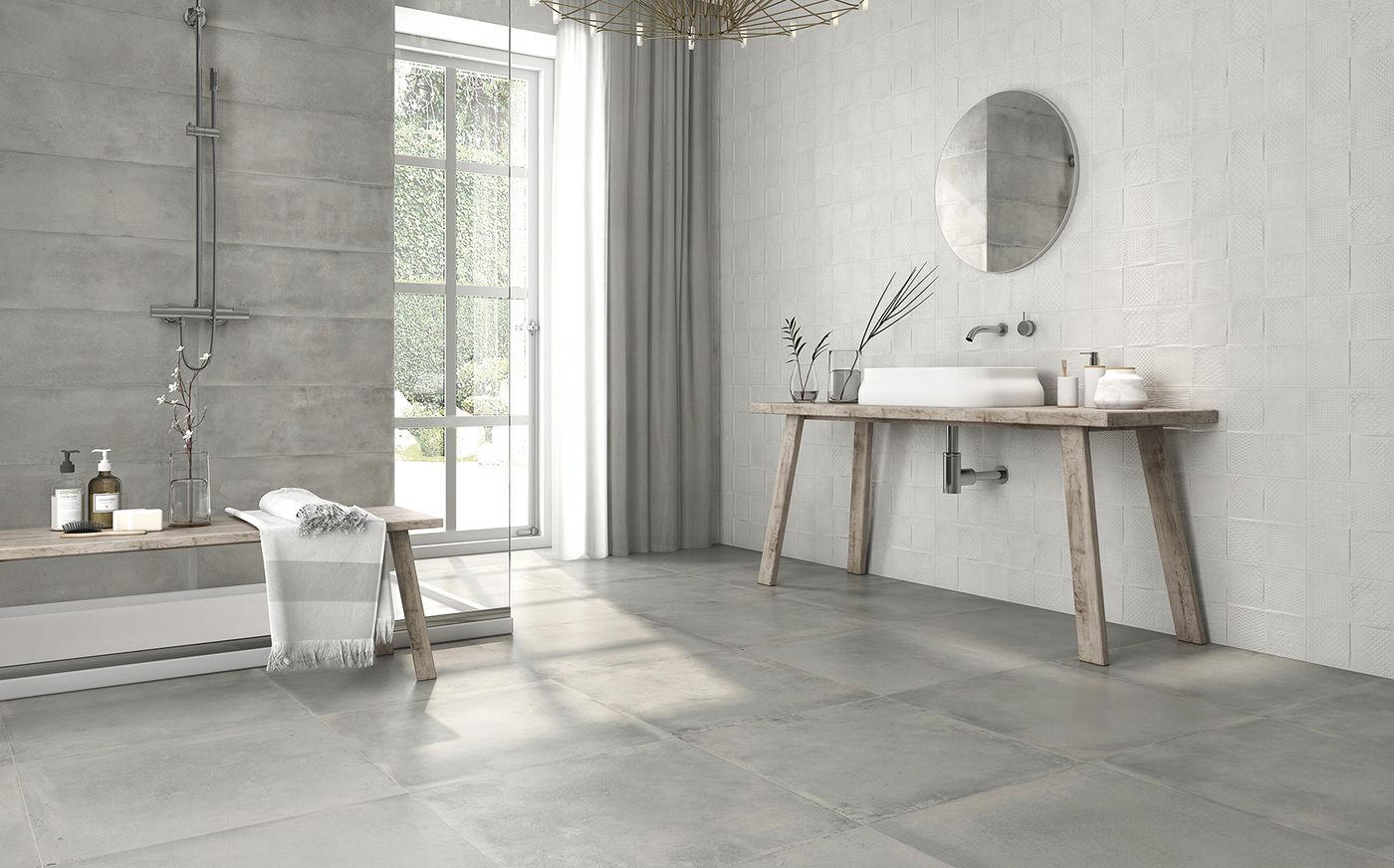 Indoor Tile Wall Floor Porcelain Stoneware REMAKE KERABEN - Bathroom remake