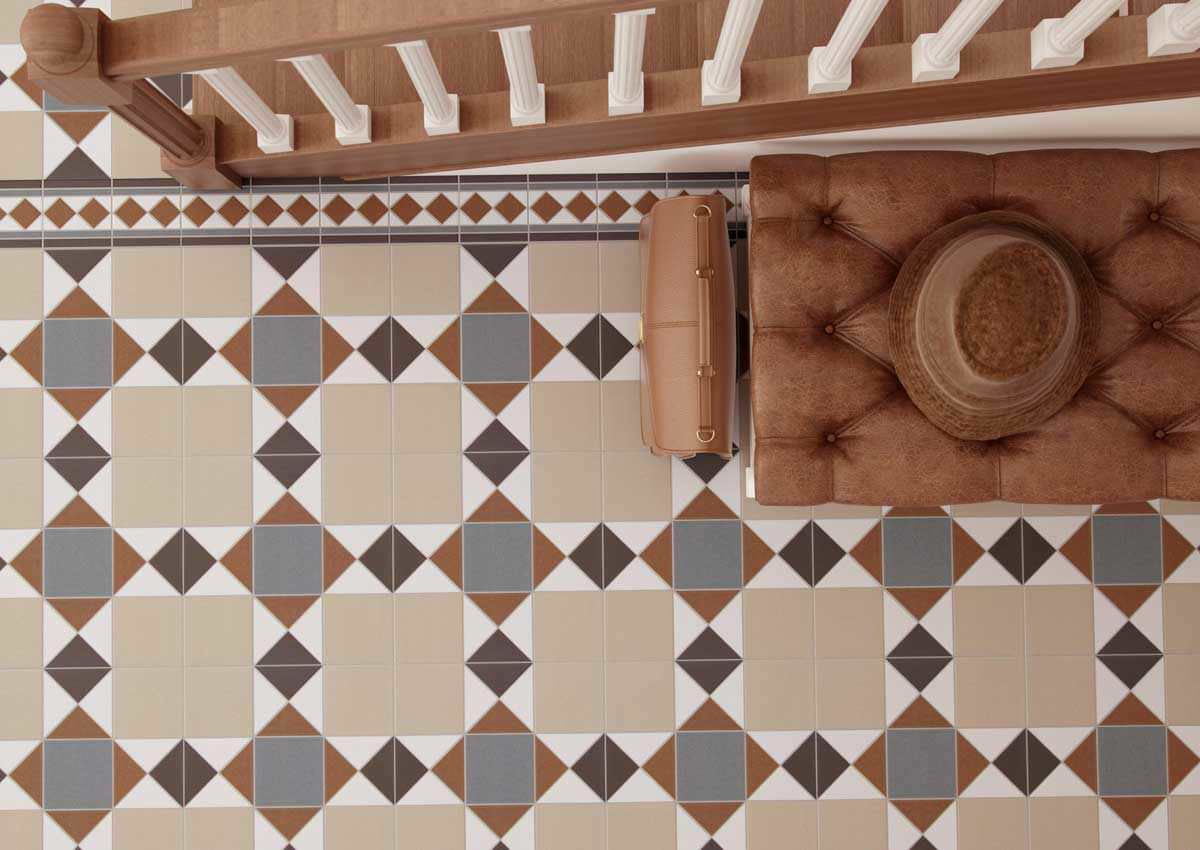House Tiles indoor tile / floor / porcelain stoneware / victorian pattern