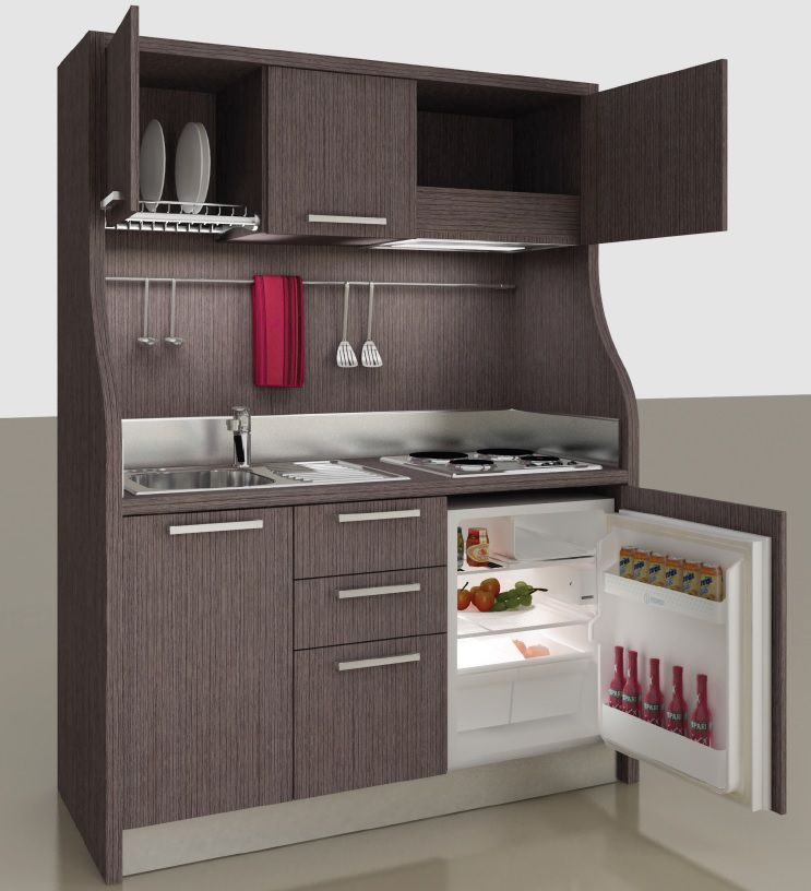 Wooden commercial kitchen / compact