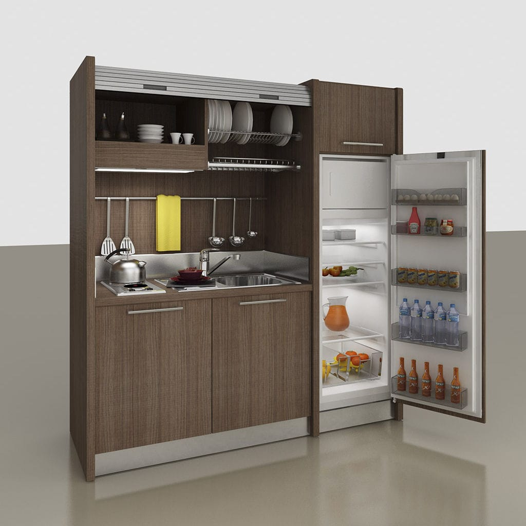 Kitchenette With Integrated Appliances / Hidden / Compact / For Studio  Apartement   K 109