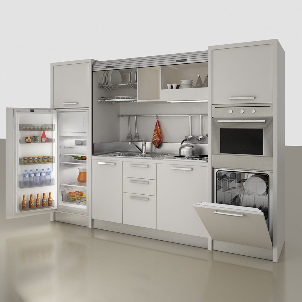 Merveilleux Kitchenette With Integrated Appliances / Hidden / Compact / For Studio  Apartement   K 137