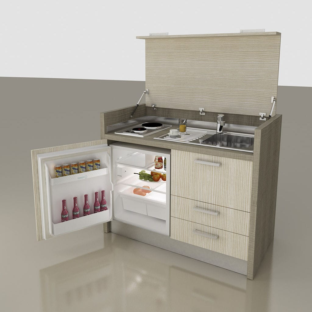 Kitchenette With Integrated Appliances / Hidden / Compact / For Studio  Apartement   K 140