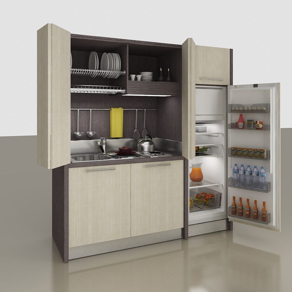 Genial Kitchenette With Integrated Appliances / Hidden / Compact / For Studio  Apartement   K 155