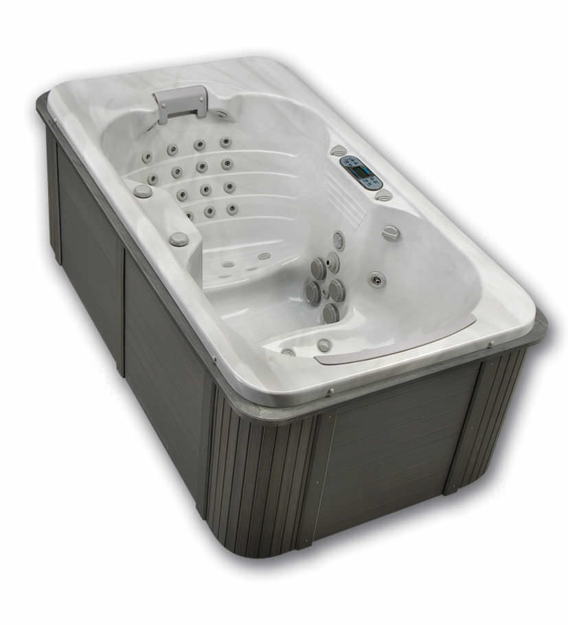 Above-ground hot tub / rectangular / 2-person - GEMINI - Thermo Spas ...