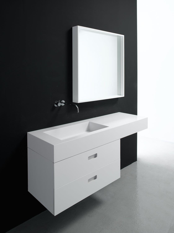 Wall Hung Washbasin Cabinet / Wooden / Contemporary / Lacquered   INFINITY  By Nespoli U0026 Novara