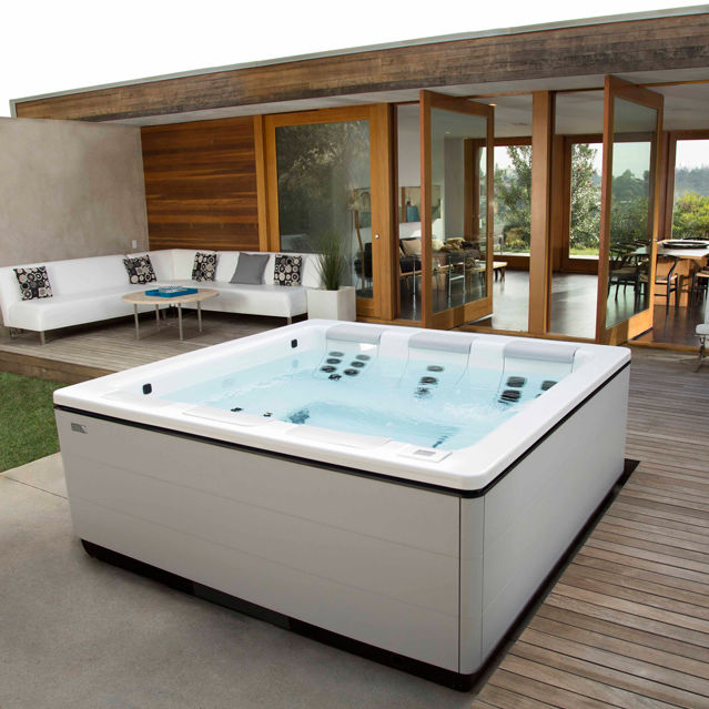 in ground hot tub ideas above rectangular outdoor plans