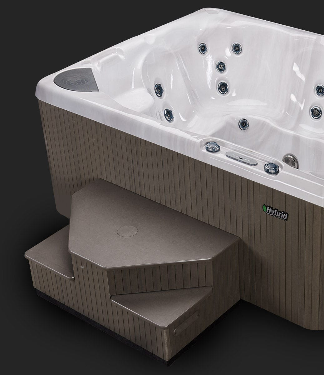 Above-ground hot tub / square / 8-person - 380 - Beachcomber Hot ...