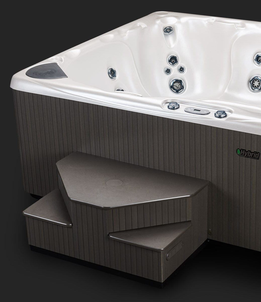 Above-ground hot tub / square / 8-person / indoor - 590 ...