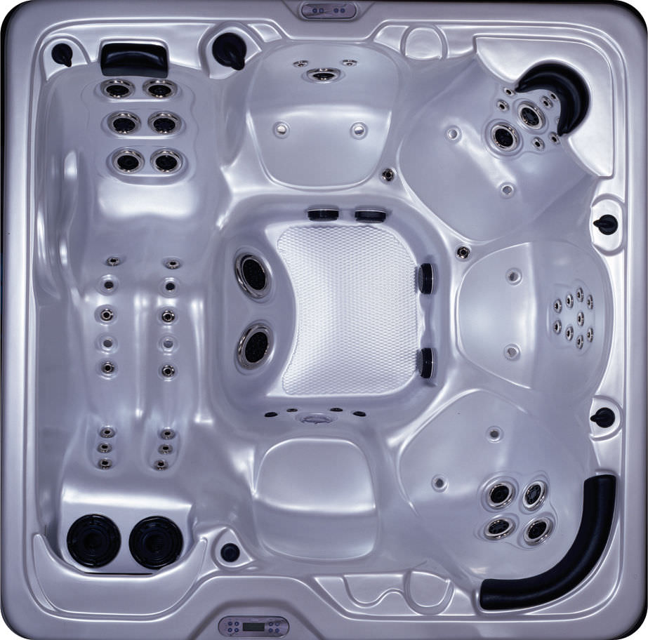 Built-in hot tub / square / 6-seater - 3880 AQUARIUS - Spa Crest Hot ...