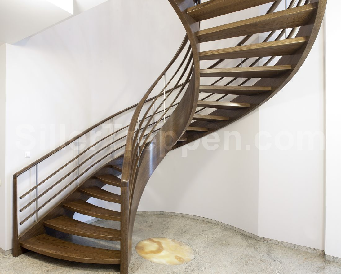 Charmant Helical Staircase / Wooden Frame / Wooden Steps / Without Risers    AMSTERDAM HELICAL