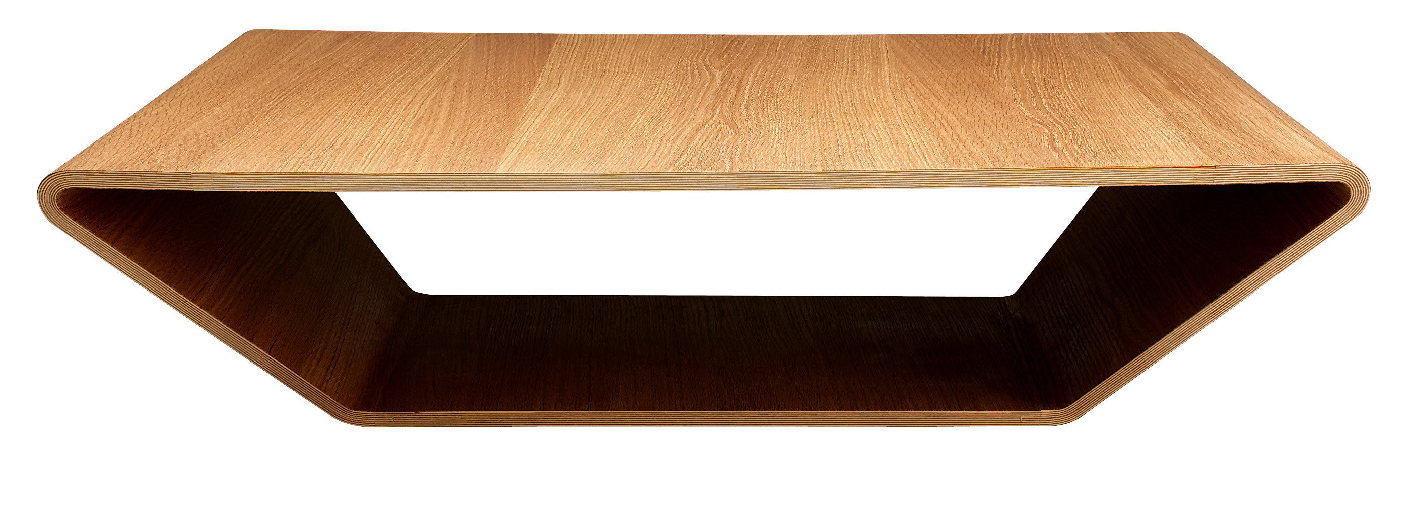 Contemporary coffee table oak walnut birch BRASILIA by