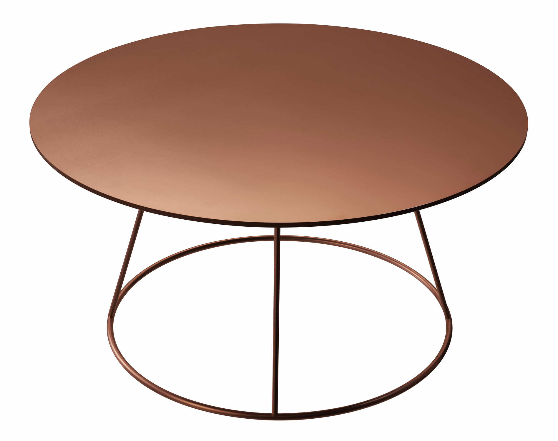 contemporary coffee table / metal / ash / copper - breeze by