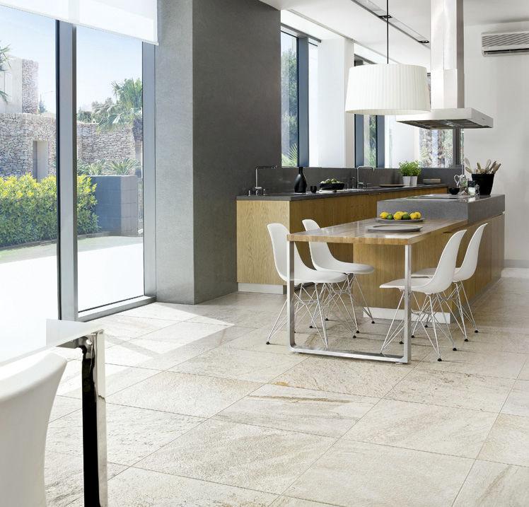 Living Room Tile / Floor / Porcelain Stoneware / Plain   WALKS/1.0 : WHITE