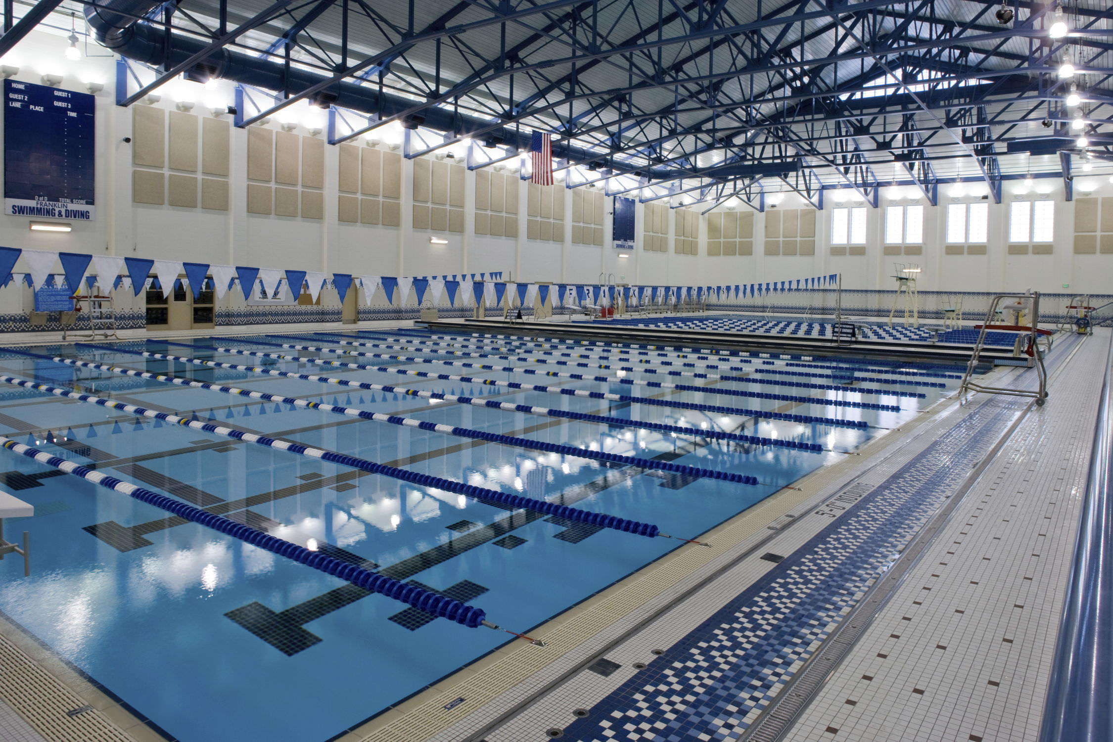 Indoor School Swimming Pool concrete competition pool / public / indoor - franklin community