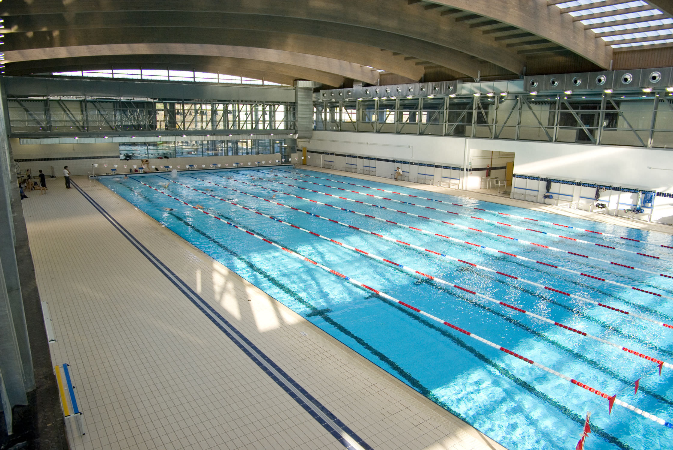 Concrete Competition Pool / Public / Indoor / Indoor   MUNICIPAL SWIMMING  POOL TRECATE
