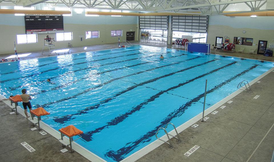 Indoor Public Swimming Pool concrete competition pool / public / indoor - cedar city community