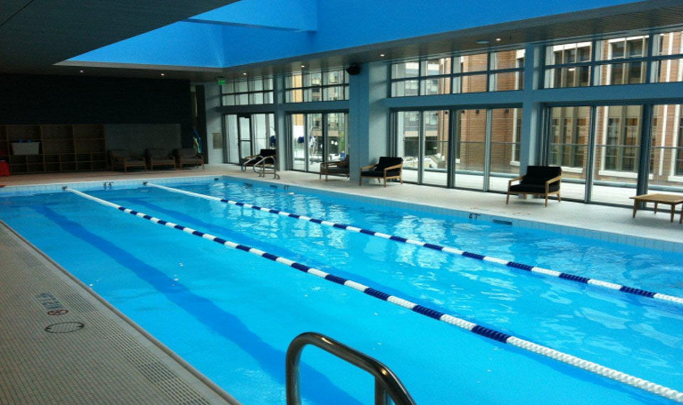 Indoor public pool  In-ground swimming pool / stainless steel / public / indoor - CITY ...