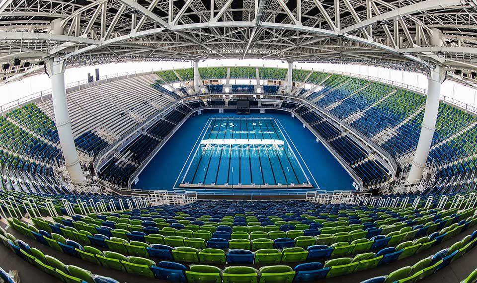 Concrete competition pool public indoor indoor RIO DE